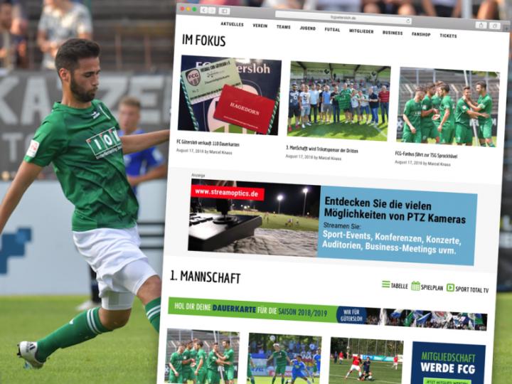 Neue FCG-Homepage wird vermarktet