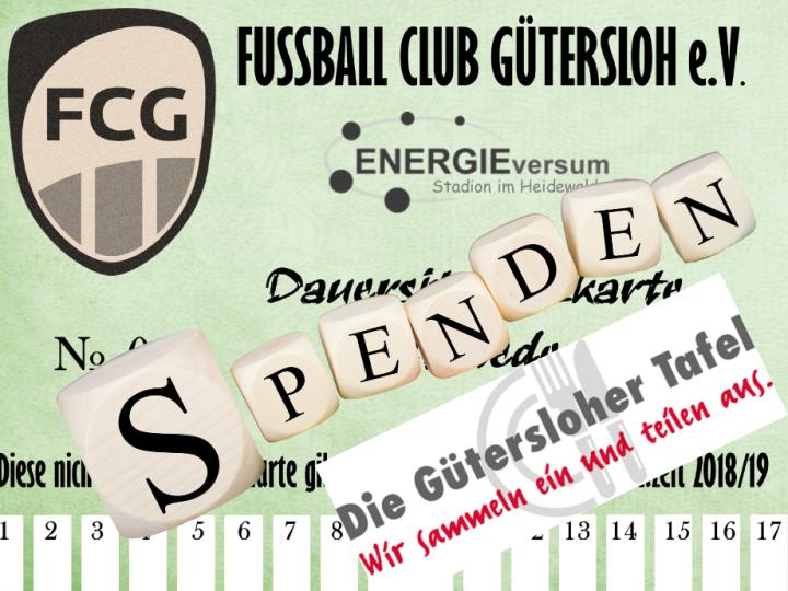 105 Spenden-Dauerkarten für die Gütersloher Tafel