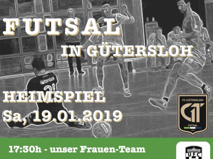 Heimspielplakat der FCG-Futsaler für Samstag