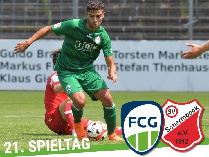 FCG-Plakat für das Schermbeck-Spiel