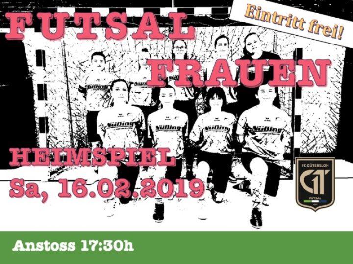 Spielplakat für das Heimspiel der FCG-Futsalerinnen