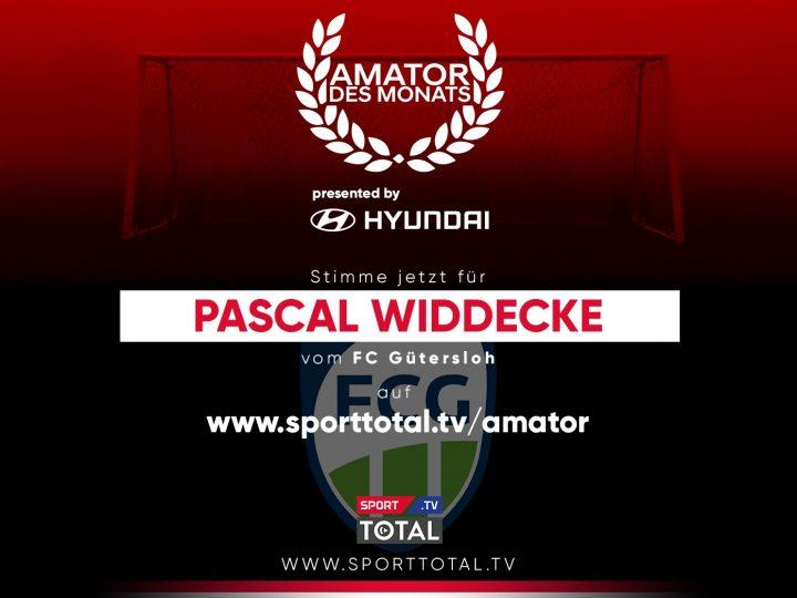 AmaTOR des Monats: Pascal Widdecke aktuell Zweiter