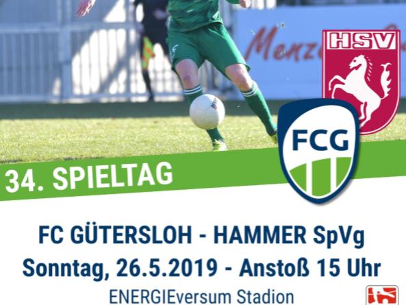 FCG-Plakat für das Heimspiel gegen Hamm