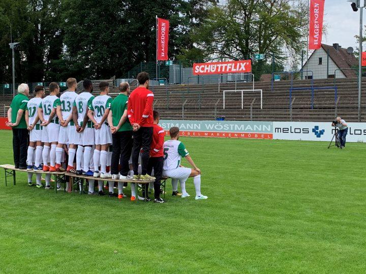 Mannschaftsfoto des FC Gütersloh in Arbeit