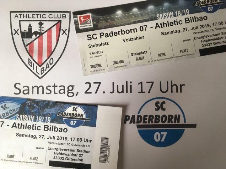 Kartenvorverkauf für SC Paderborn gegen Athletic Bilbao