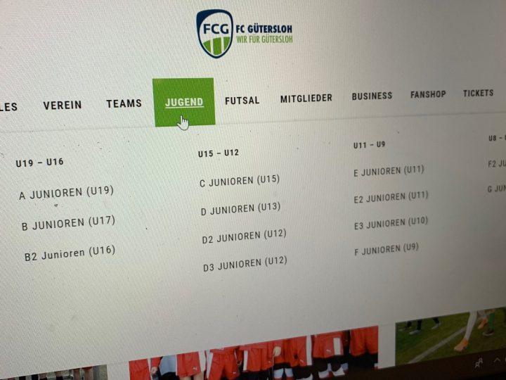 Teamseiten der FCG-Jugend aktualisiert