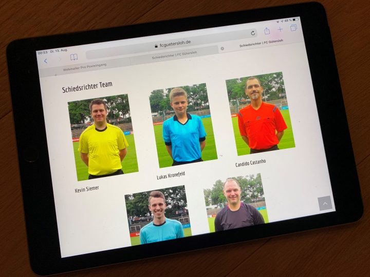 FCG-Schiedsrichterteam mit eigener Internetseite