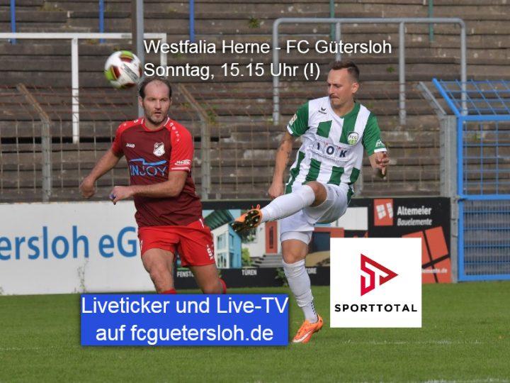 Live-TV von Sporttotal: Westfalia Herne – FC Gütersloh