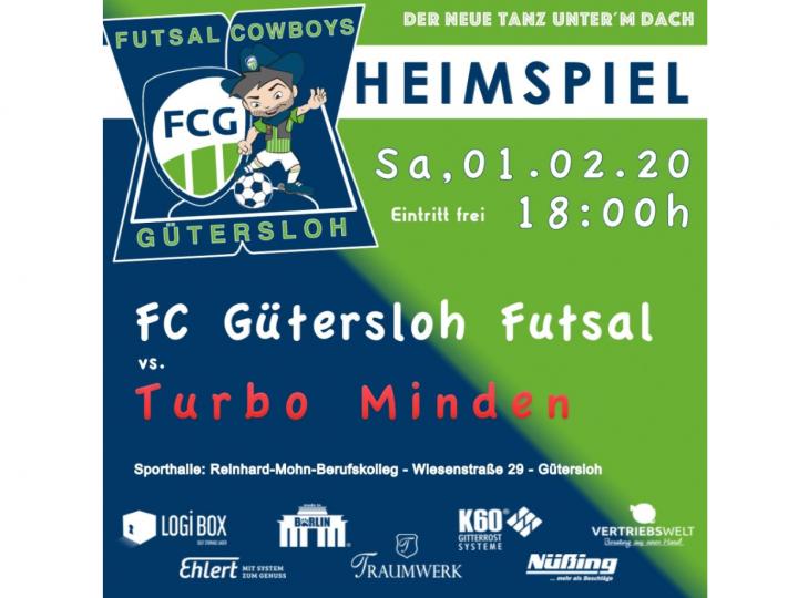 Ankündigungsgrafik für das Topspiel der FCG Futsal Cowboys