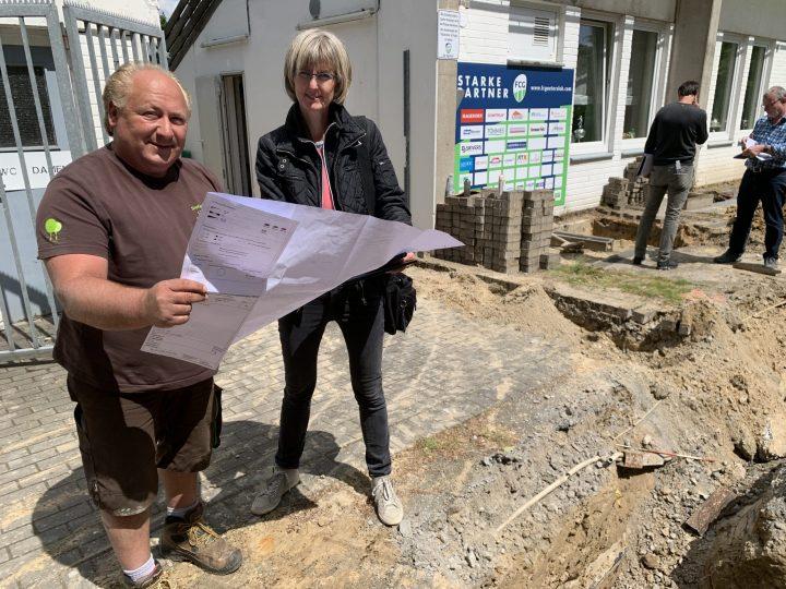 Vorarbeiten für den FCG-Neubau im Heidewaldstadion starten