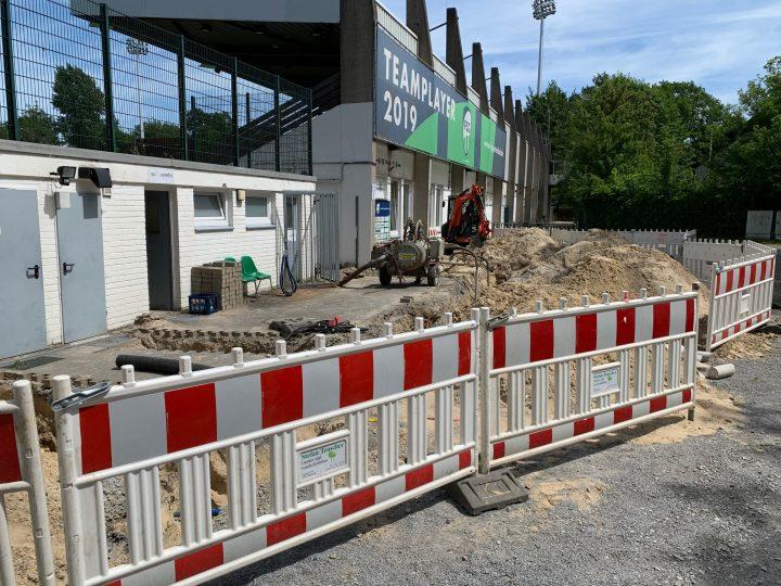 Fotos von der Baustelle: Im Heidewald-Untergrund tut sich was