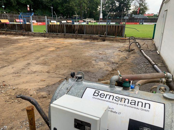 FCG-Vereinsheim: Grundwasserabsenkung läuft im Heidewald