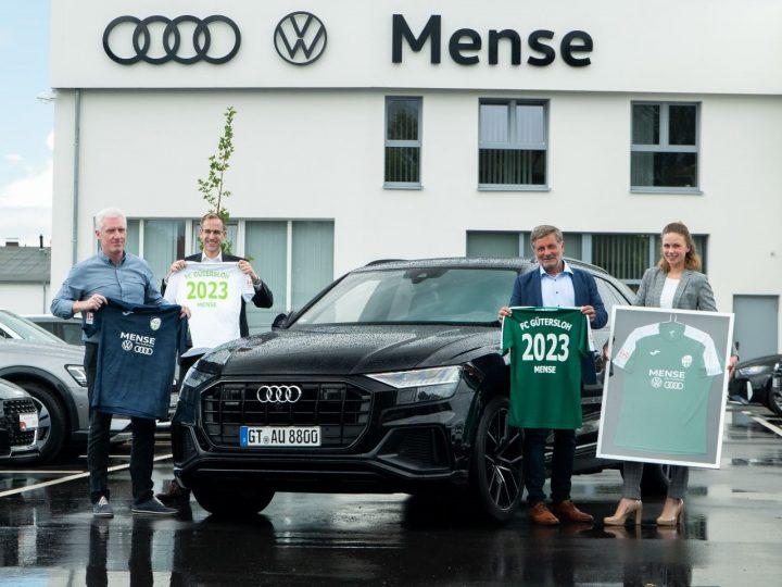 Alle Teams mit VW und Audi:  Das Autohaus Mense wird neuer FCG-Trikotpartner