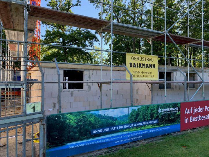 Baustelle: Das FCG-Vereinsheim bekommt seine Erdgeschossdecke