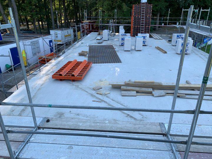 Erdgeschoss-Betondecke für das FCG-Vereinsheim gegossen