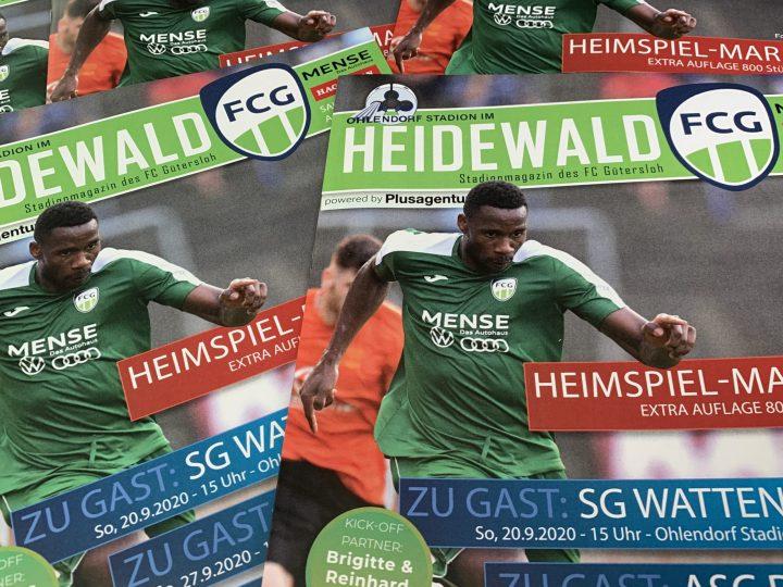 FCG-Stadionmagazin mit einer Auflage von 800 für das Wattenscheid-Spiel erschienen