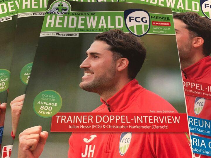 Neues FCG-Stadionmagazin mit Trainer Doppel-Interview und viel Futsal