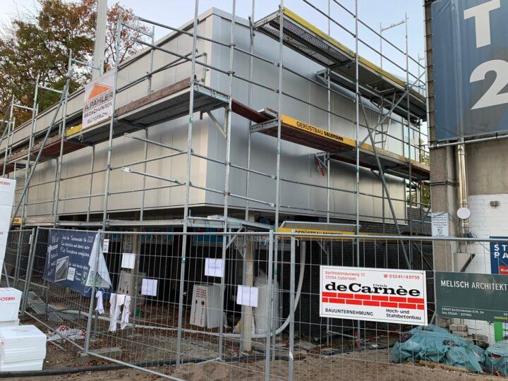 Fenster eingebaut: FCG-Neubau im Stadion kommt weiter voran
