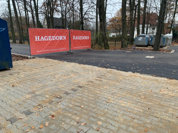 Hagedorn saniert den Heidewald-Parkplatz: Arbeiten laufen planmäßig