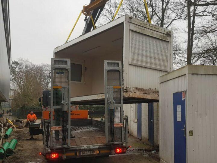 Peterburs sorgt für den Umzug der FCG-Container