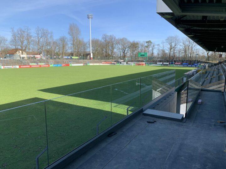 Arbeiten im Ohlendorf Stadion im Heidewald gehen weiter