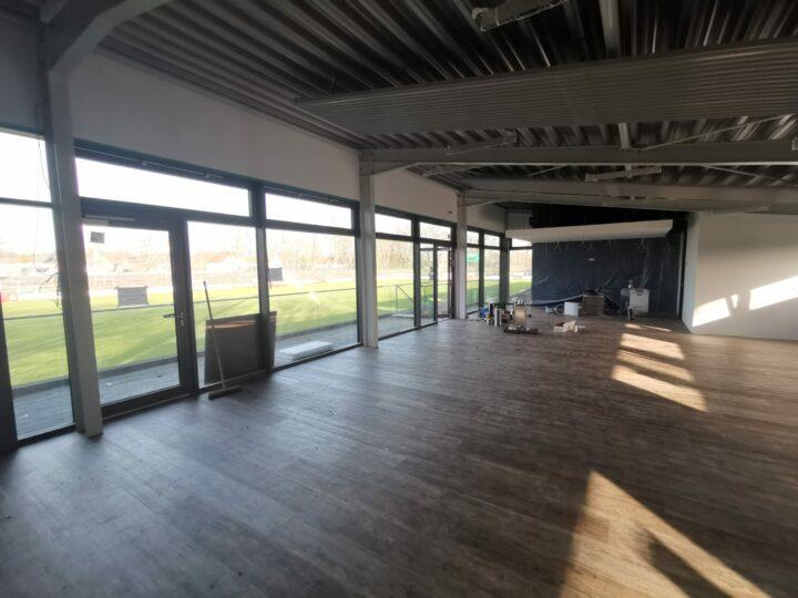 Innenarbeiten im FCG-Vereinsheim: Endspurt auf der Baustelle hat begonnen